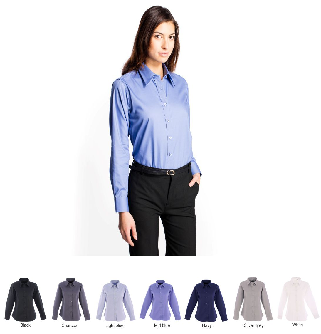 Uneek Ladies UC703 l/sleeve Oxford Blouse