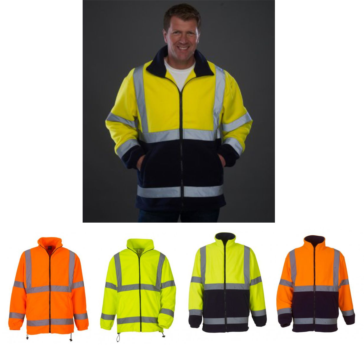 Yoko YK060 Hi Vis Heavyweight Fleece Jacket