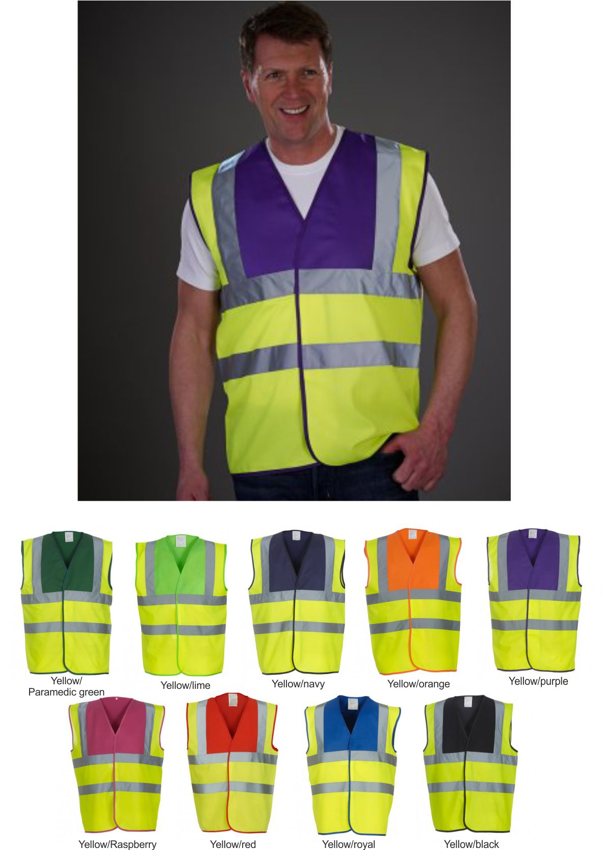1 x Yoko Hi-Vis Jacket in Yellow//Red- Security Fire First Responder Ambulance