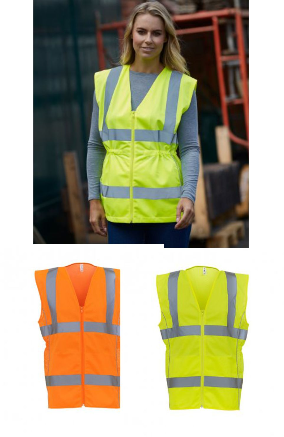 YK109 Yoko Ladies Hi Vis Executive Vest