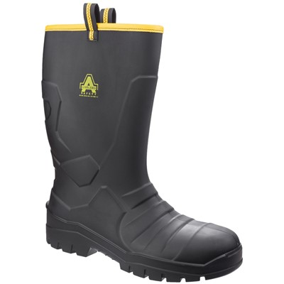 Amblers AS1008 Safety Riggeer Wellington PU Black