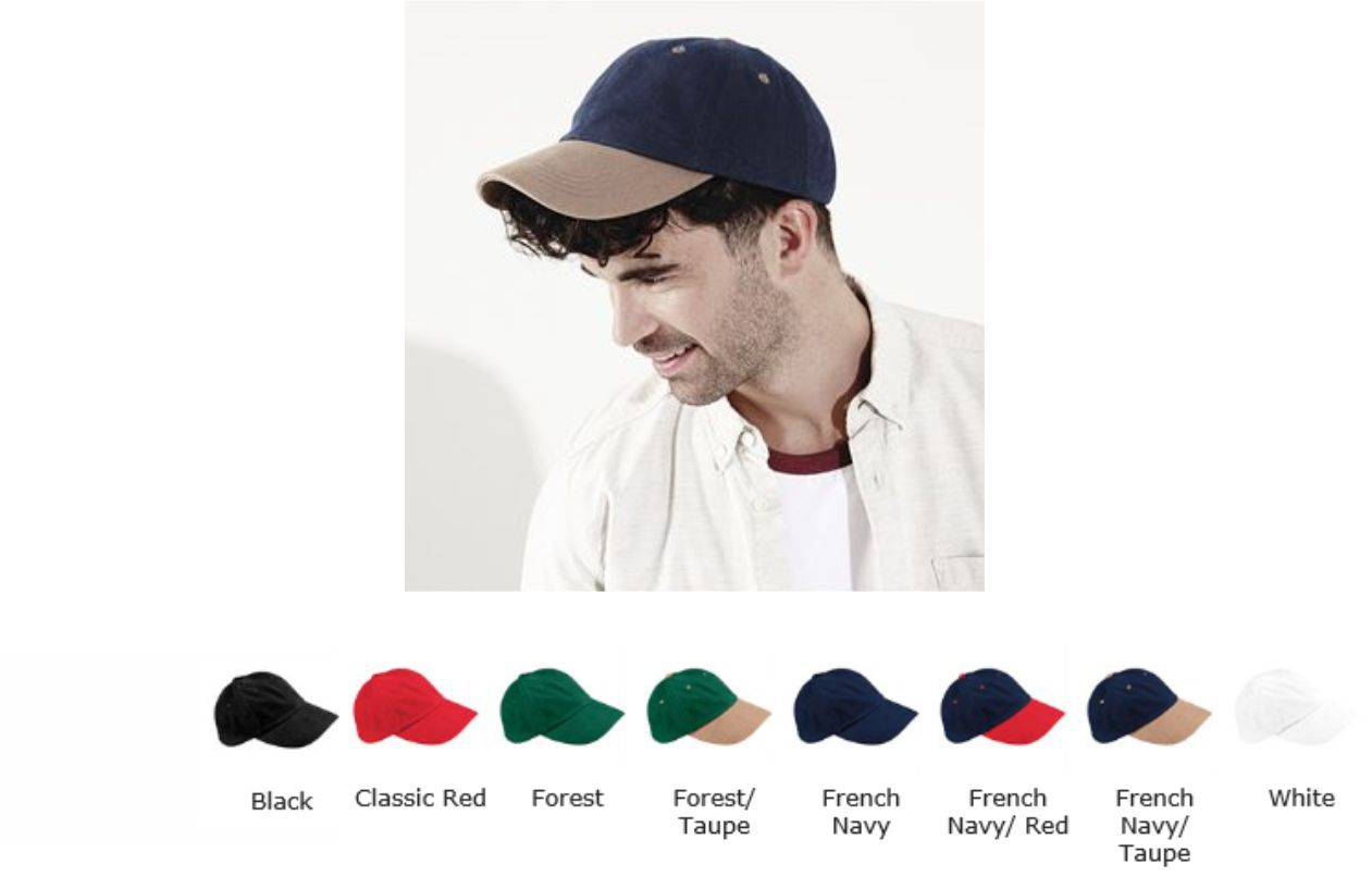 Beechfield BB57 Low Profile heavy brushed cotton cap