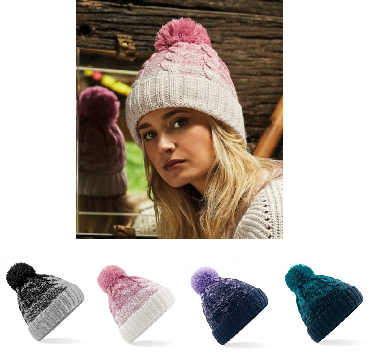 BB459 Beechfield Ombre Beanie 7eb86416484f