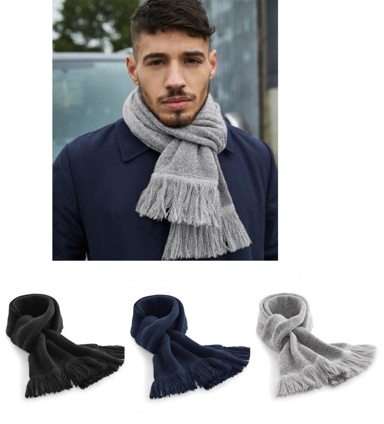 BB470 Beechfield Classic Knitted Scarf