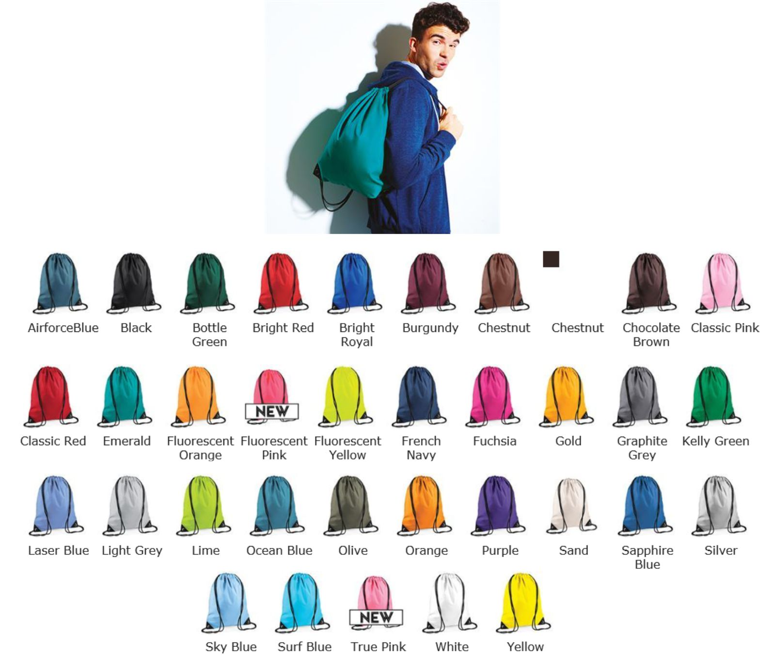 Bagbase BG180 Graphic Drawstring Backpack