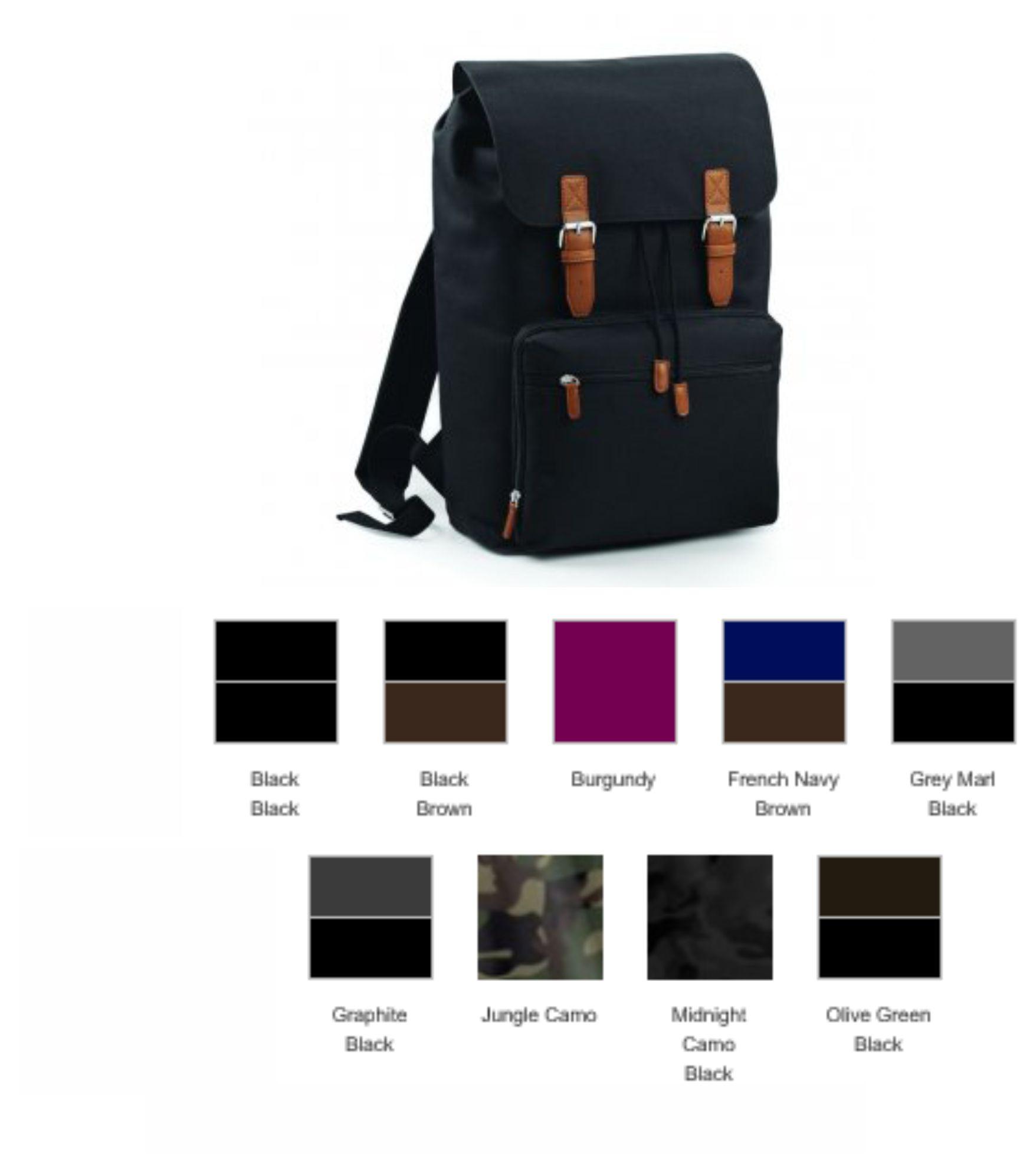 243f249cee44 Bagbase BG613 Vintage Laptop Backpack - £23.95   Ark Trading ...