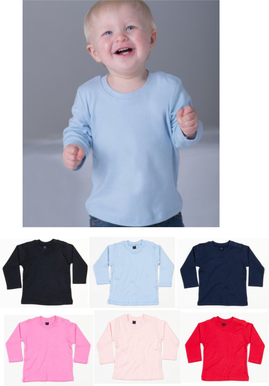 Babybugz BZ11 Baby Long Sleeve Tee Shirt