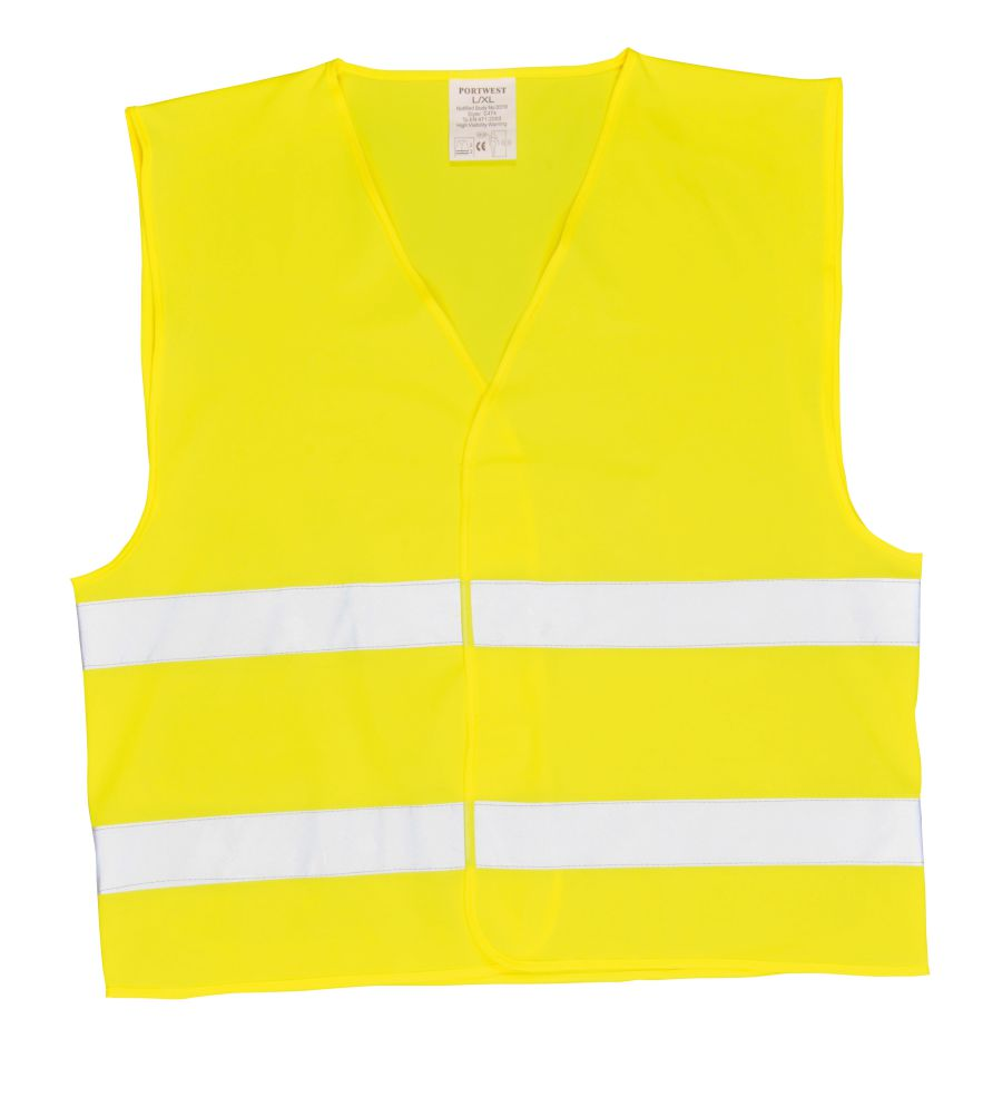 C474 Hi Vis Two Band Vest