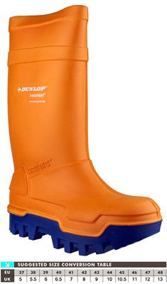 Dunlop C662343 Purofort Thermo+ Full Safety Orange