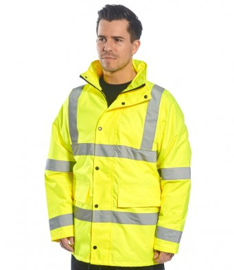 Hi vis jackets full length