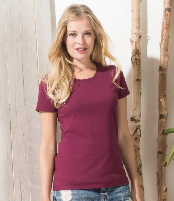 Ladies heavy round neck T- shirt