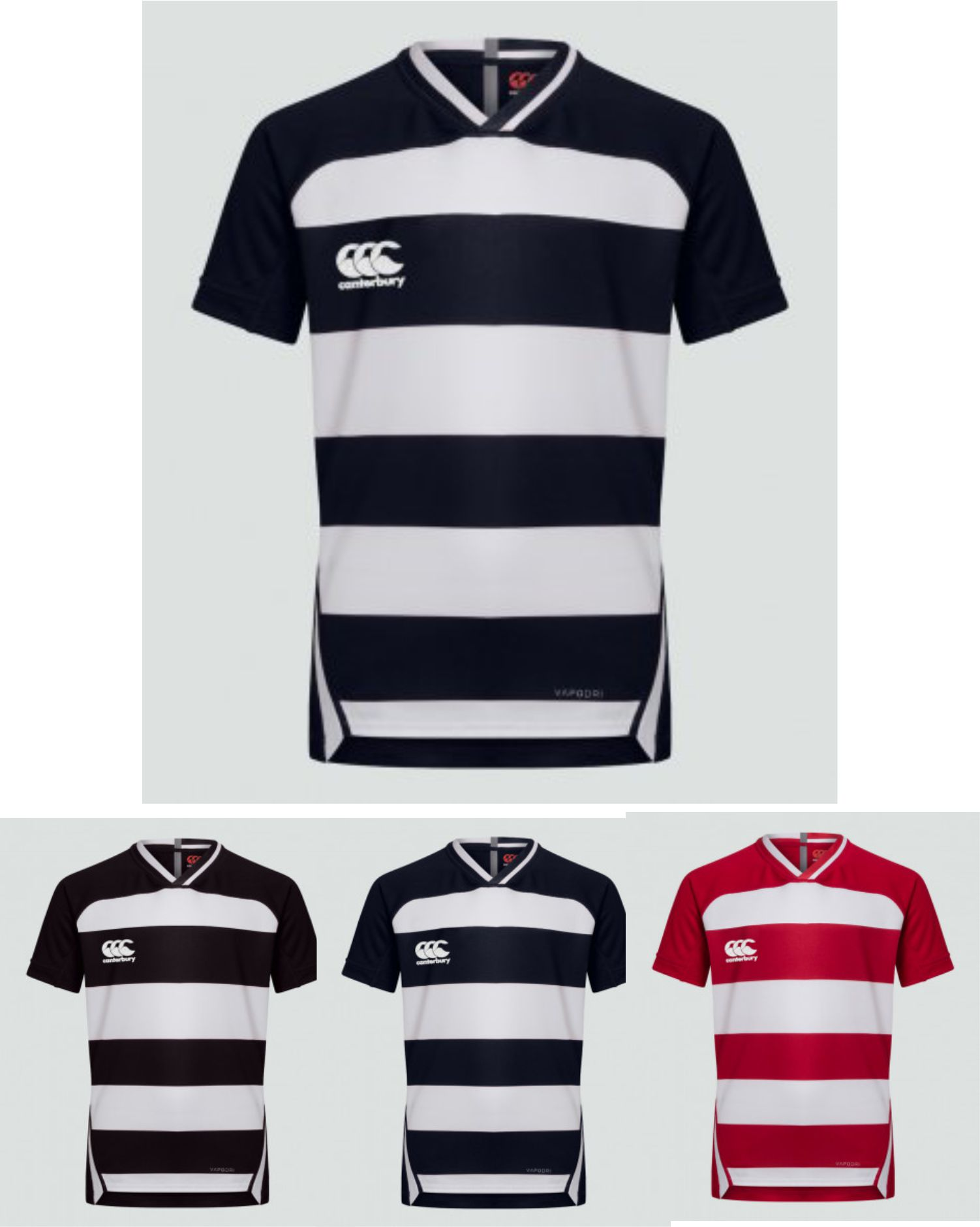 CN303 Canterbury Evader Hooped Jersey