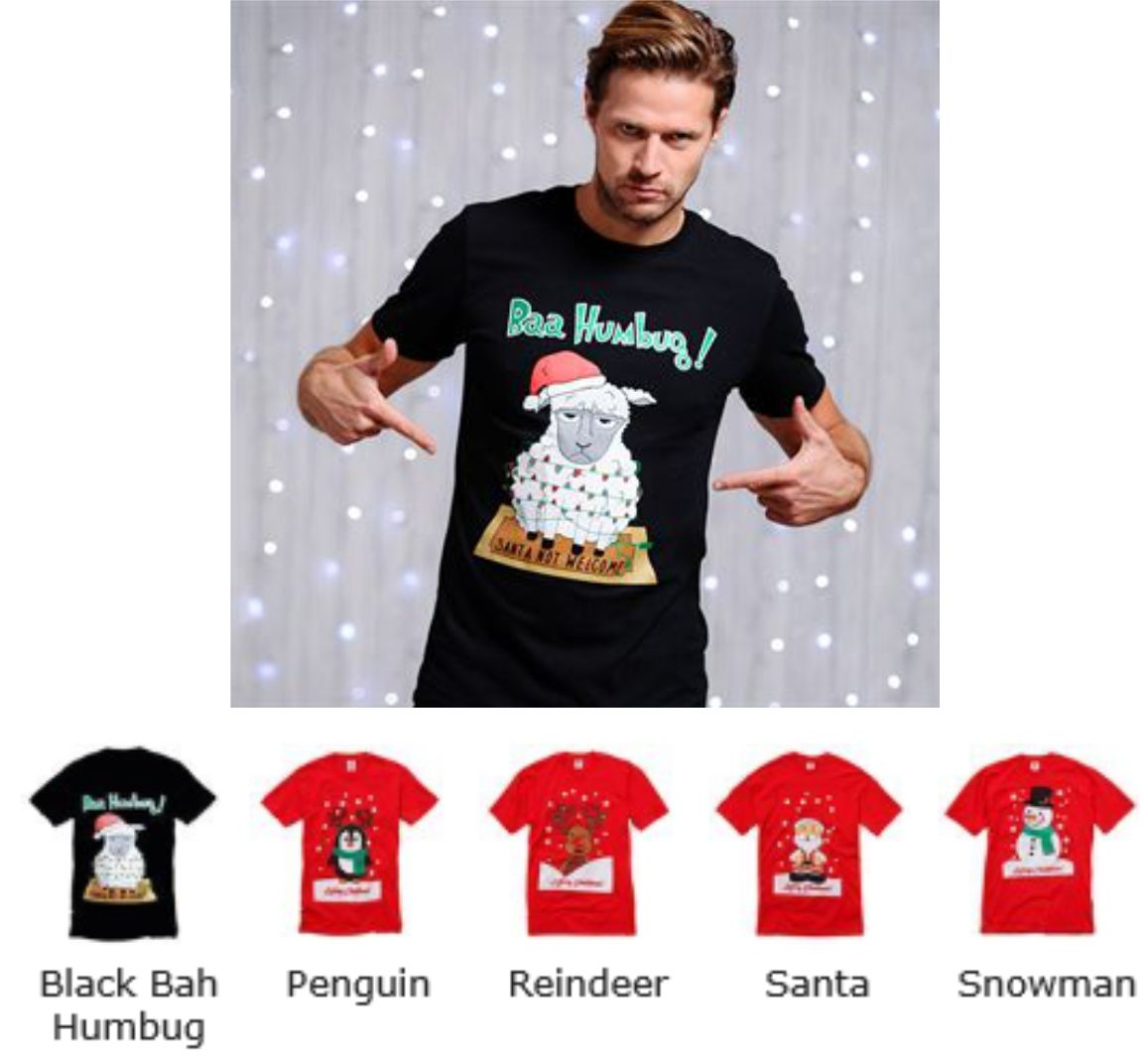 CS005 Adults Christmas Printed Tee Shirt