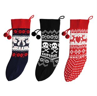 CS045 Knitted Christmas Stocking