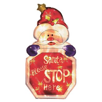 CS326 Santa Please Stop Here Sign