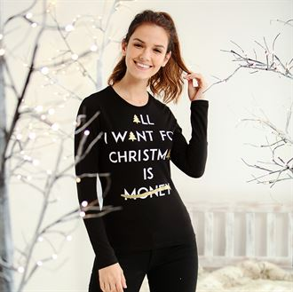 "CS801 Personalisable ""All I want ......""Women's Long Sleeve Tee"