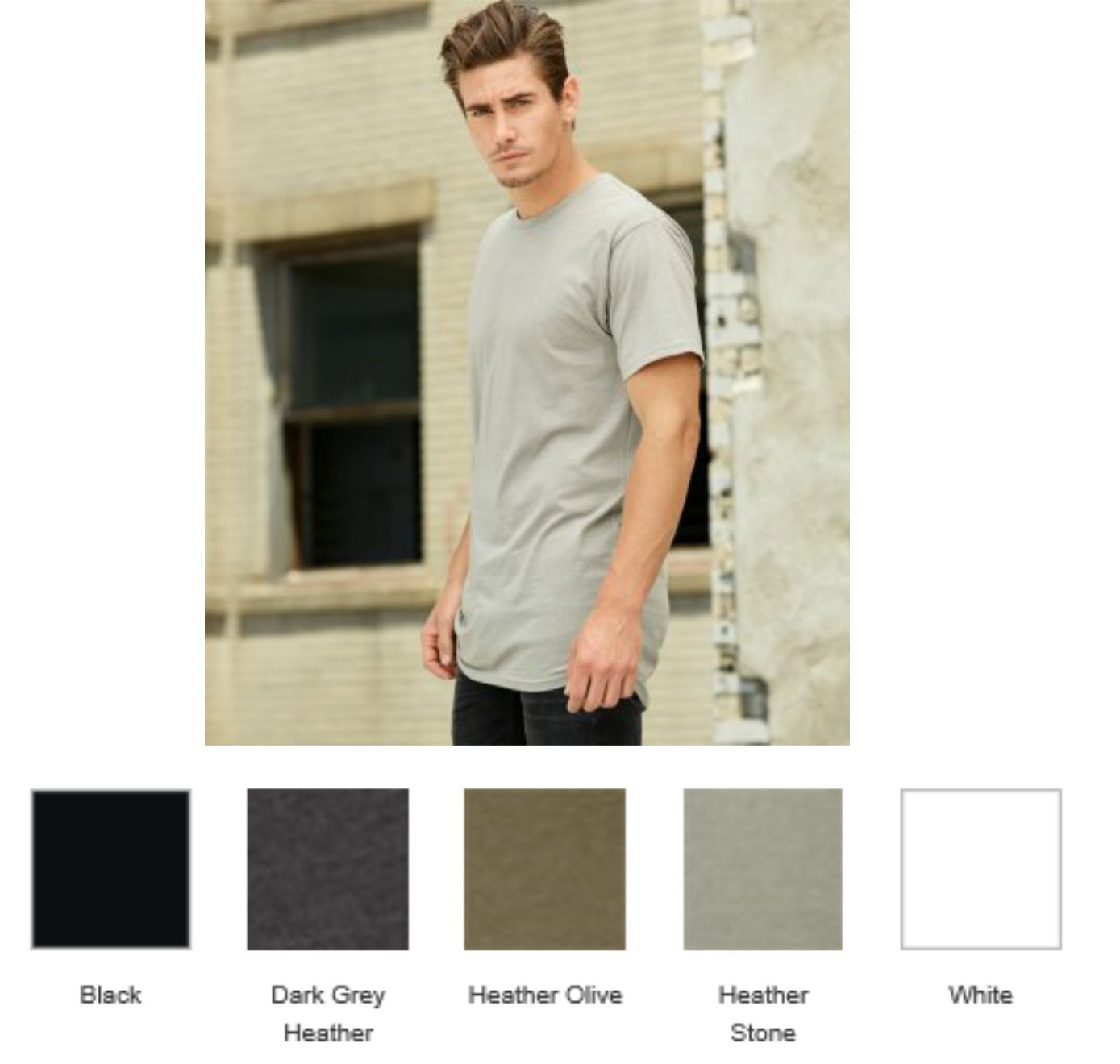 CV3006 Bella+Canvas Long Body Urban Tee Shirt