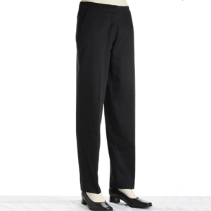 DC07 Low Cost Black Ladies Chef Trousers