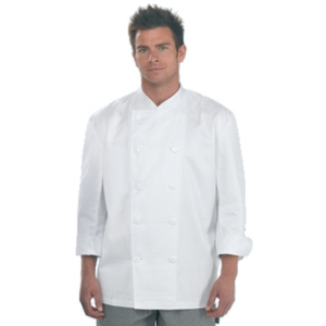 Dennys DD04E 50/50 Chefs Jacket with Polyester buttons