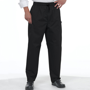 DE98A Black Lightweight Le Chef Trousers