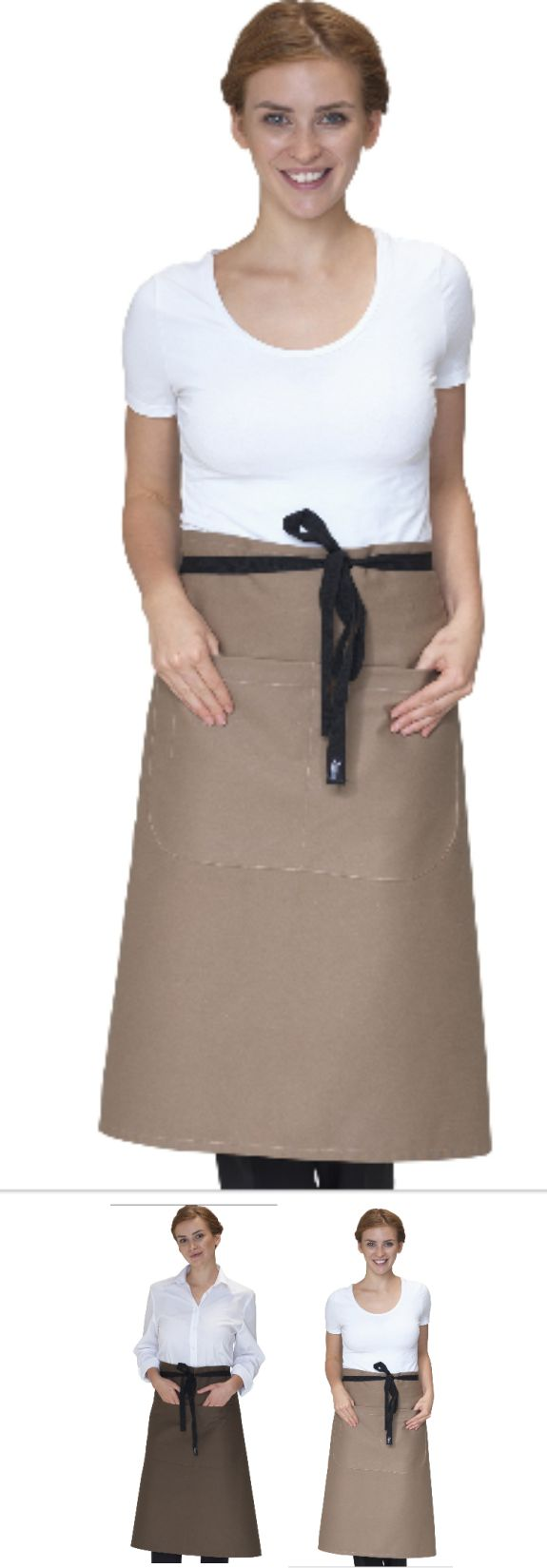 DP106 Canvas Waist Apron With Pocket