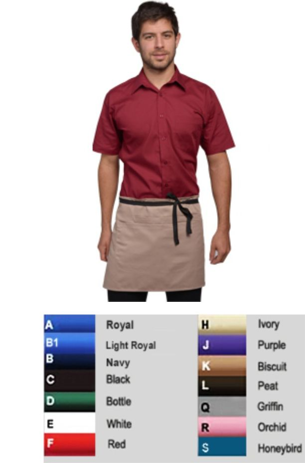 DP37 Short Bar Apron With Pockets