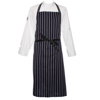 DP50 Navy Stripe Polyester Apron