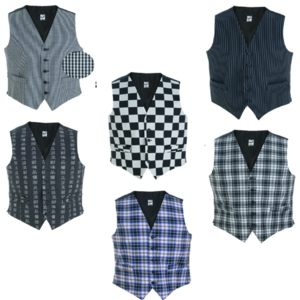 DS17 Unisex Woven Patterned Waistcoat
