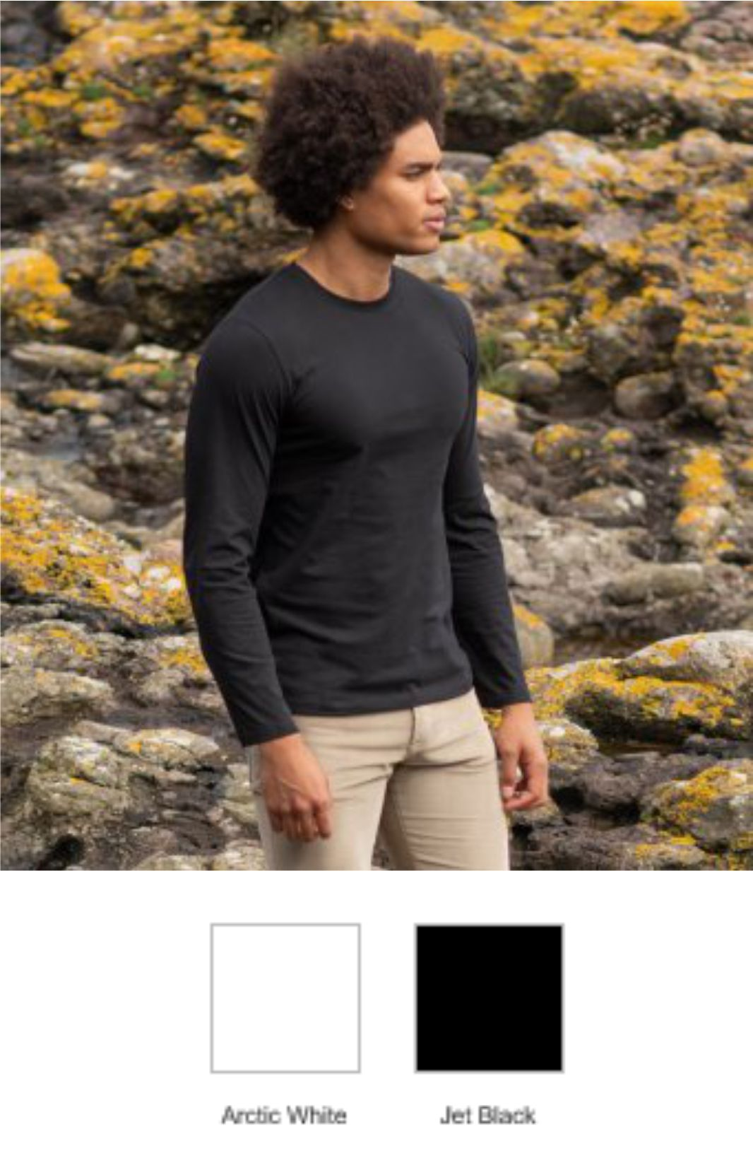 AWD EA021 Erawan Organic Long Sleeve Tee Shirt