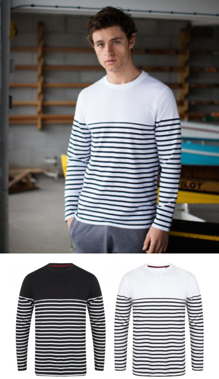 FR134 Front Row Long Sleeve Breton Stripe T-Shirt