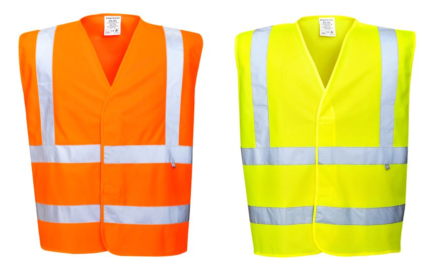 FR70 Hi Vis Vest With Flame Retardent Finish