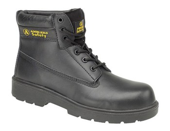FS126 Amblers Brown D-Ring Safety Boot, Padded Top