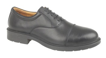 FS43 Black 4 Eyelet Oxford Shoe
