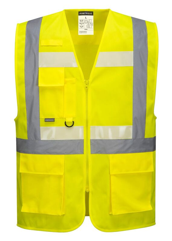 G456 Glowtex Ezee Zip Executive Vest