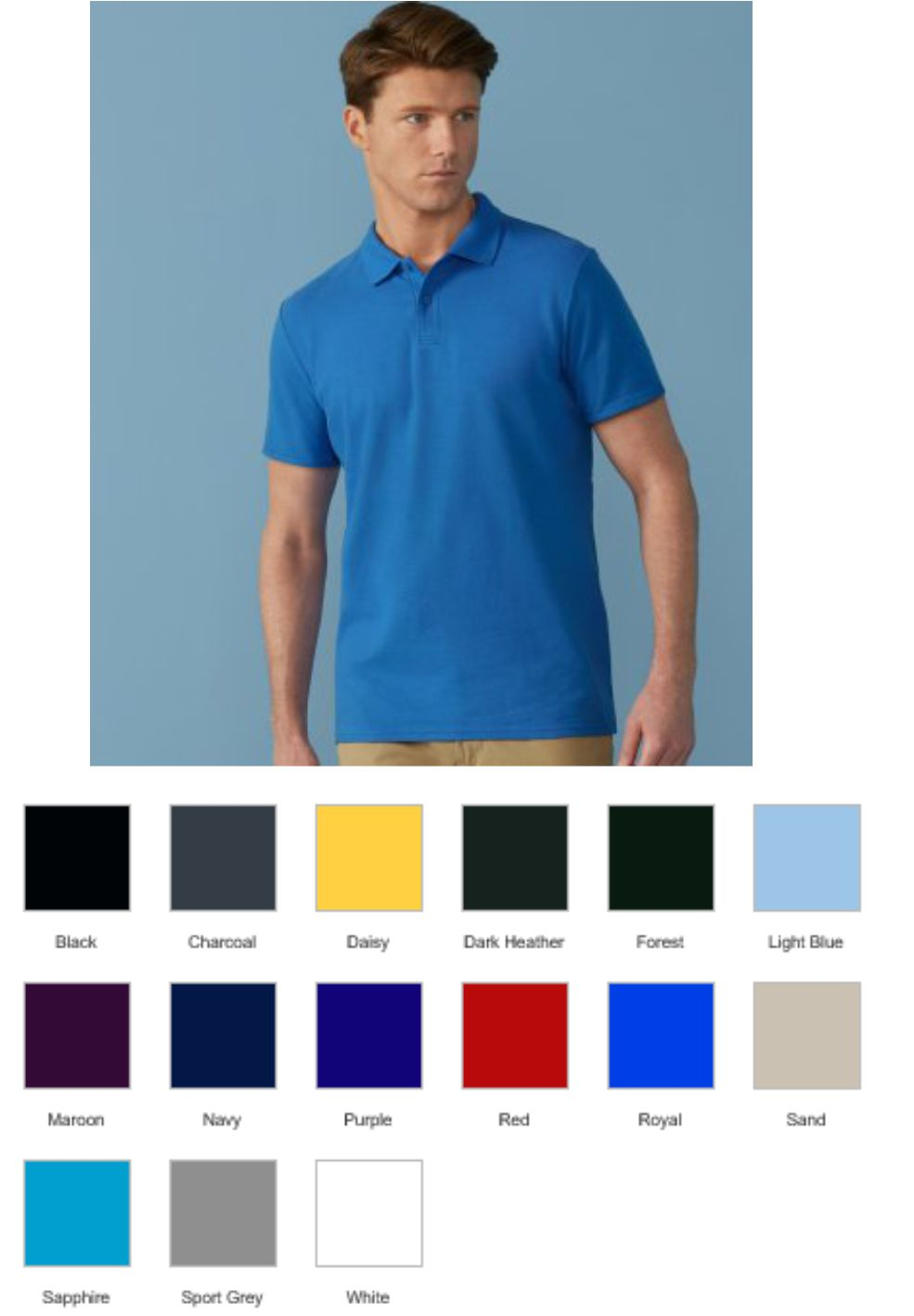 Gildan GD35 Modern Fit Cotton Pique Polo Shirt