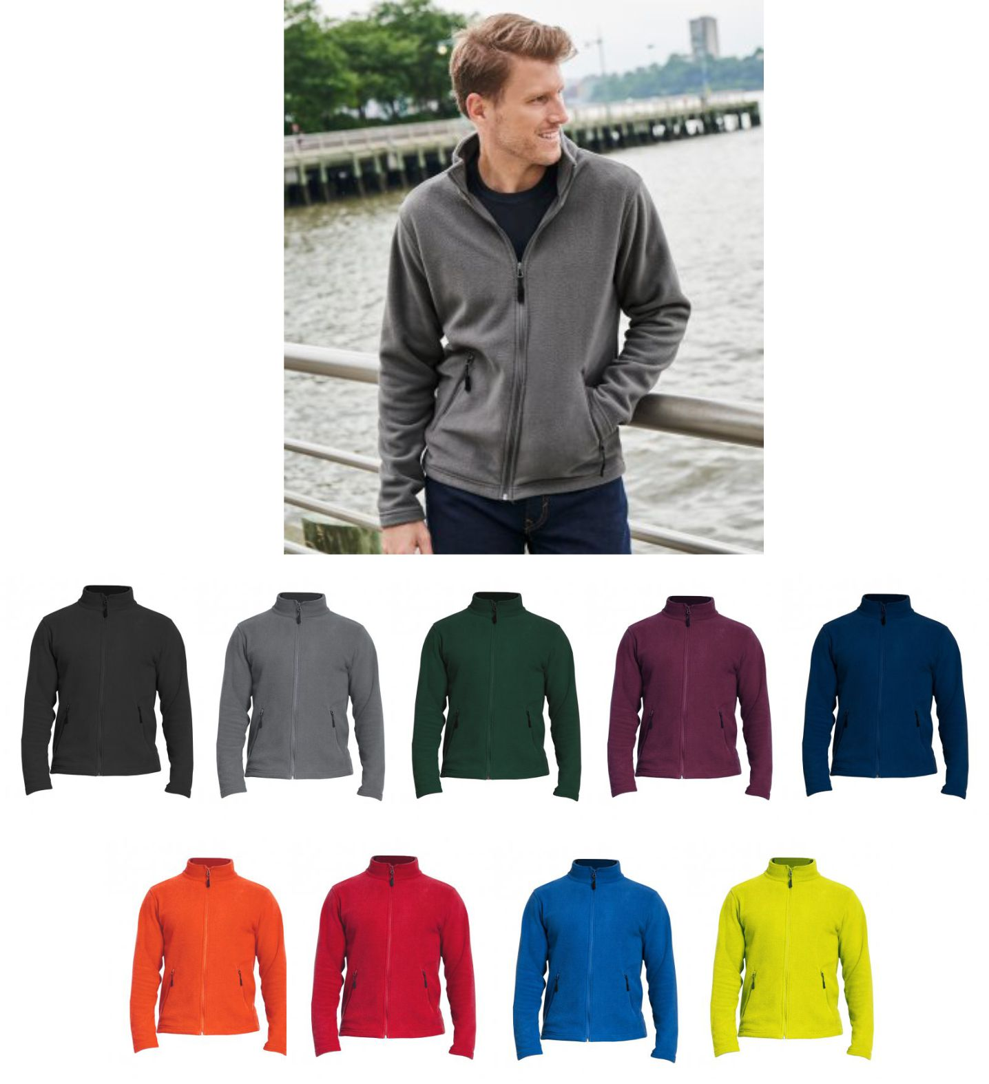 GH110 Gildan Hammer Micro Fleece Jacket