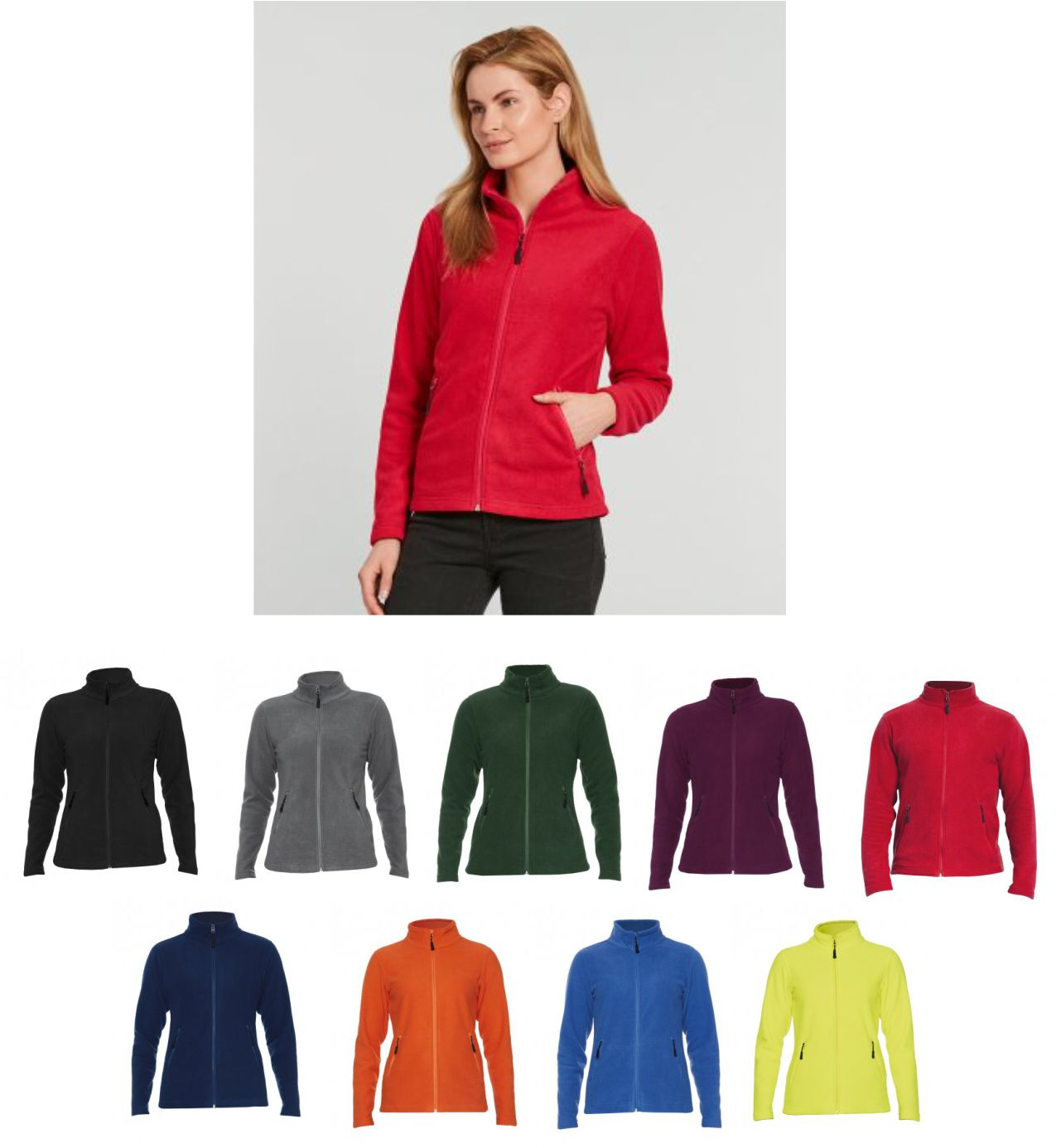GH111 Gildan Hammer Ladies Micro Fleece Jacket