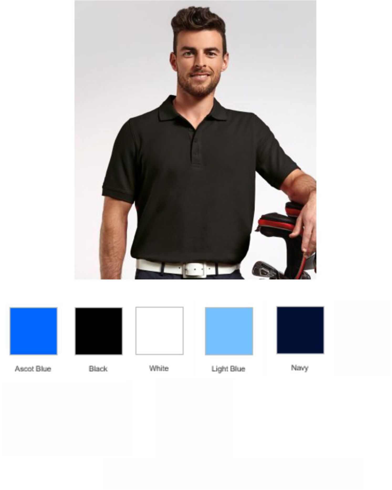 Glenmuir GM27 Classic Fit Pique Polo Shirt
