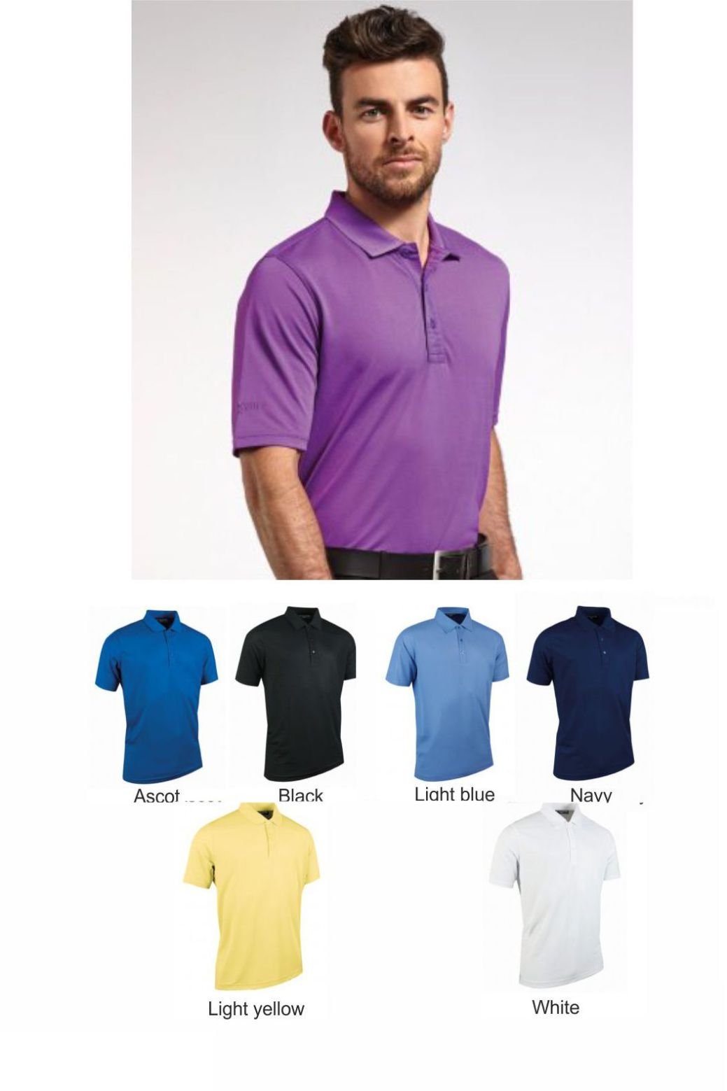 Glenmuir GM77 Performance Pique Polo