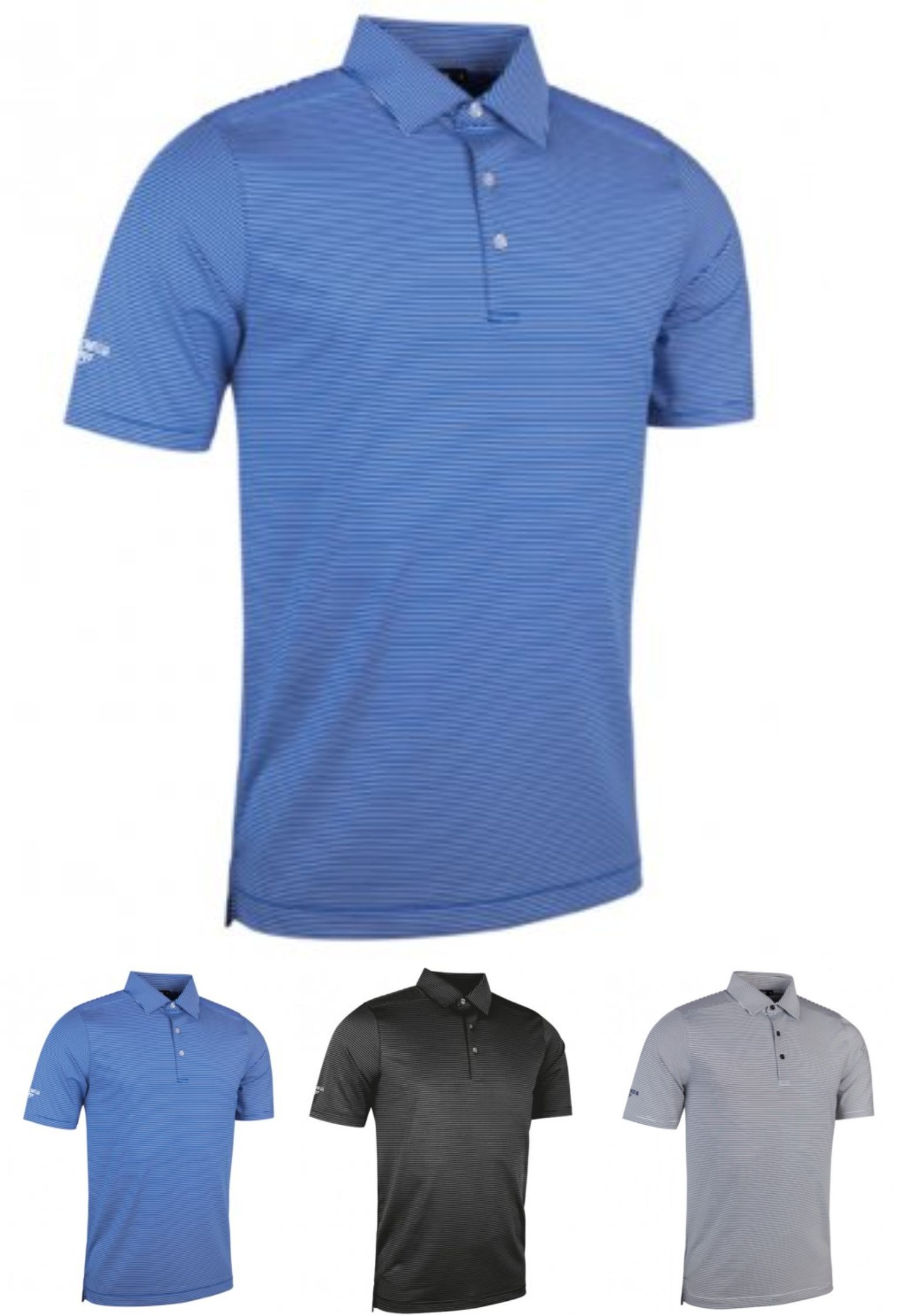 GM97 Glenmuir Micro Stripe Polo Shirt