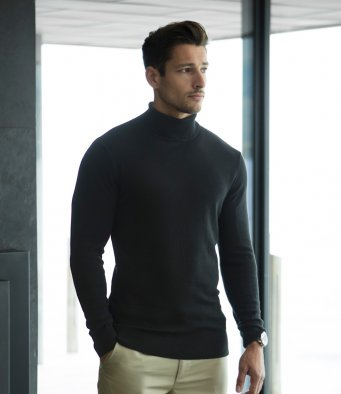 Henbury H727 Roll Neck Sweater