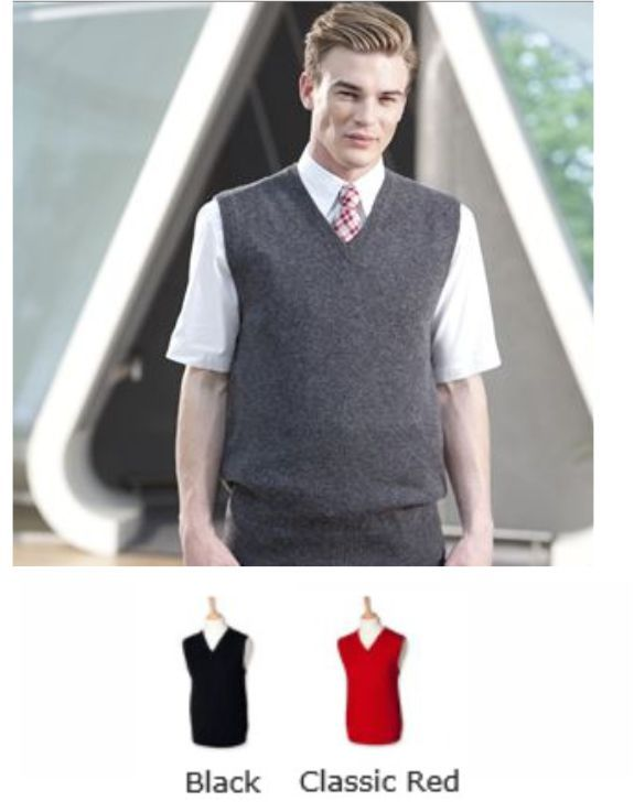 Henbury H731 Lambswool Sleeveless V Neck