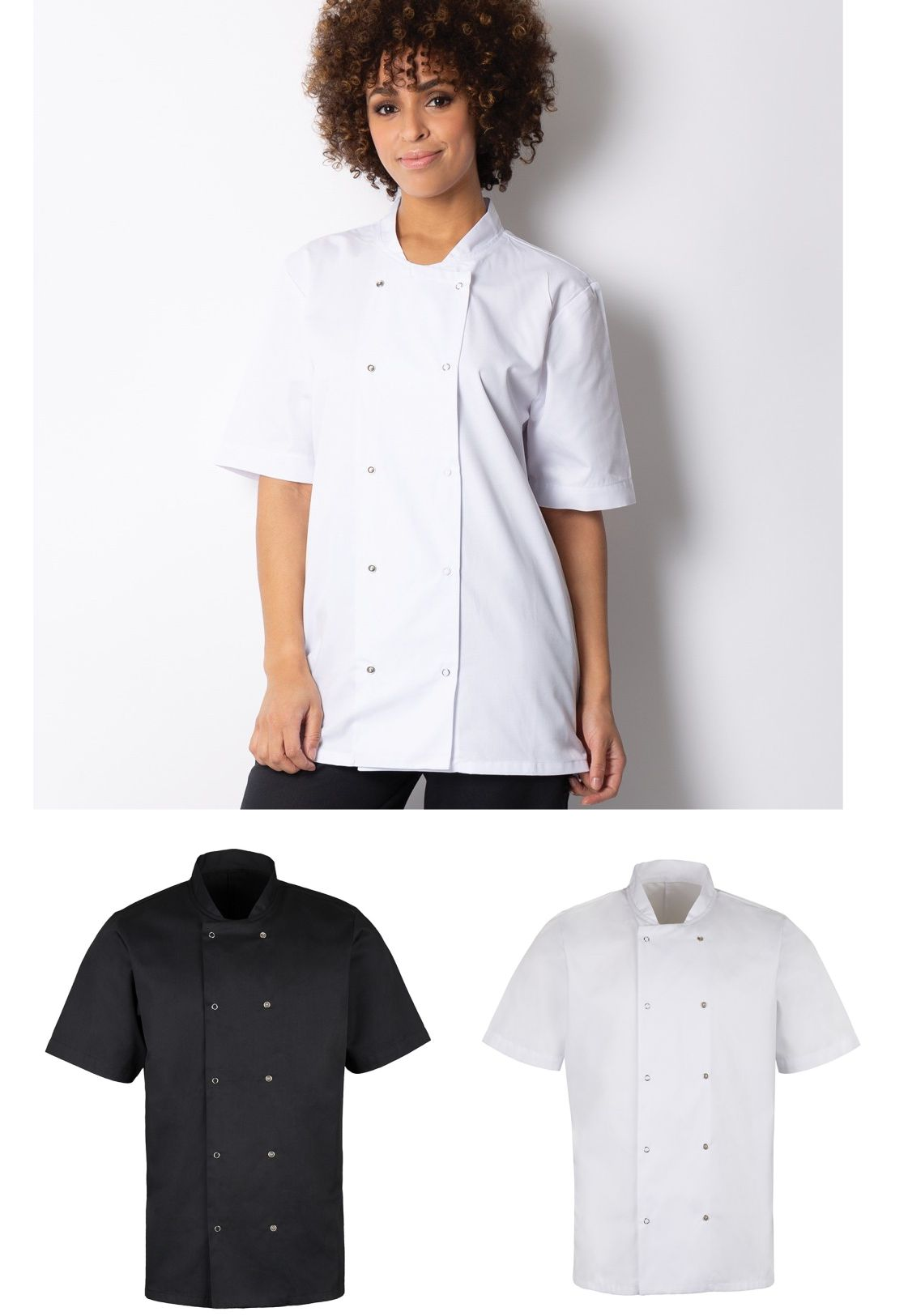 HO10 Essential short sleeved Chef's Jacket