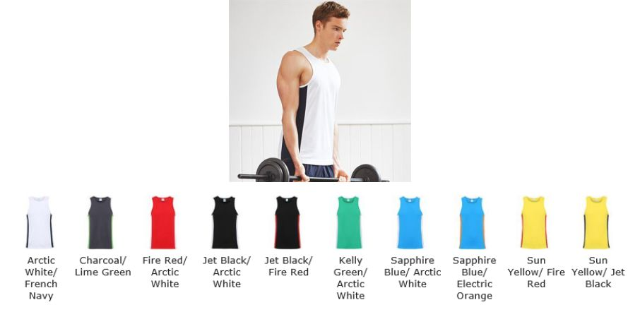 AWD JC008 Mens Cool Contrast Vest