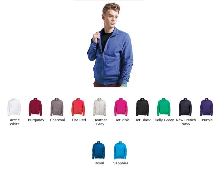 AWD JH047 Fresher Full Zip Sweatshirt