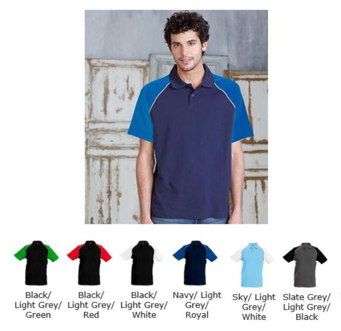 Kariban KB226 Mens Baseball Polo