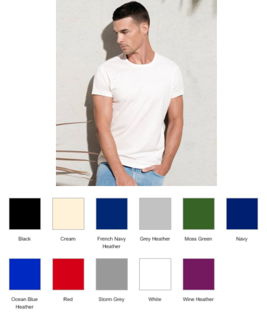 KB371 Kariban Organic Crew Neck T-Shirt