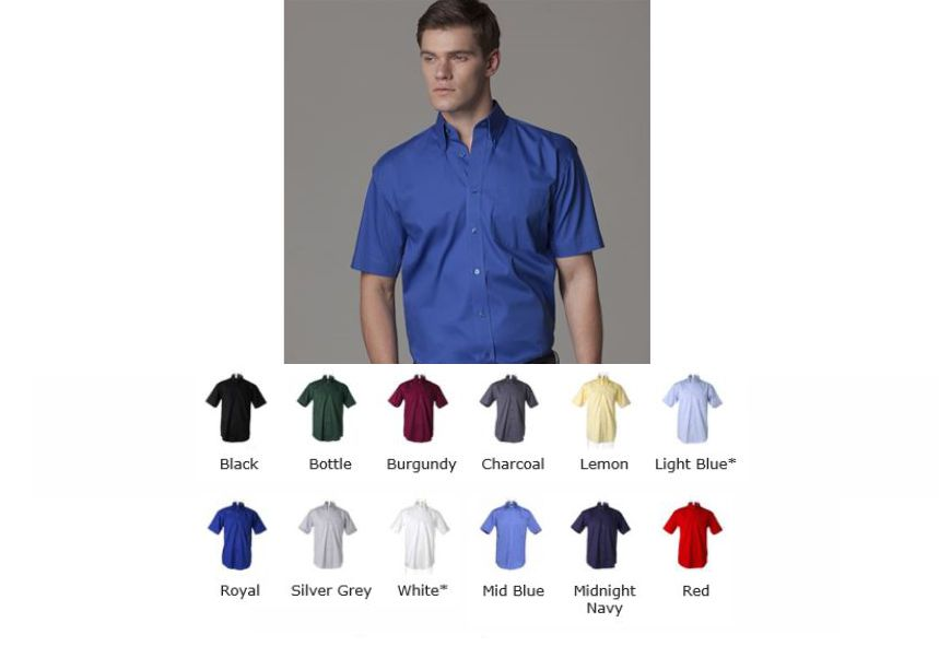 Kustom Kit KK109 short sleeve Oxford shirt