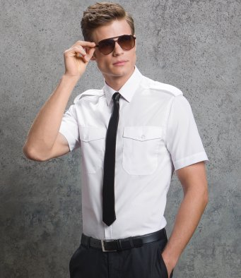 Kustom Kit KK133 Men's Pilot Short Sleeve Shirt