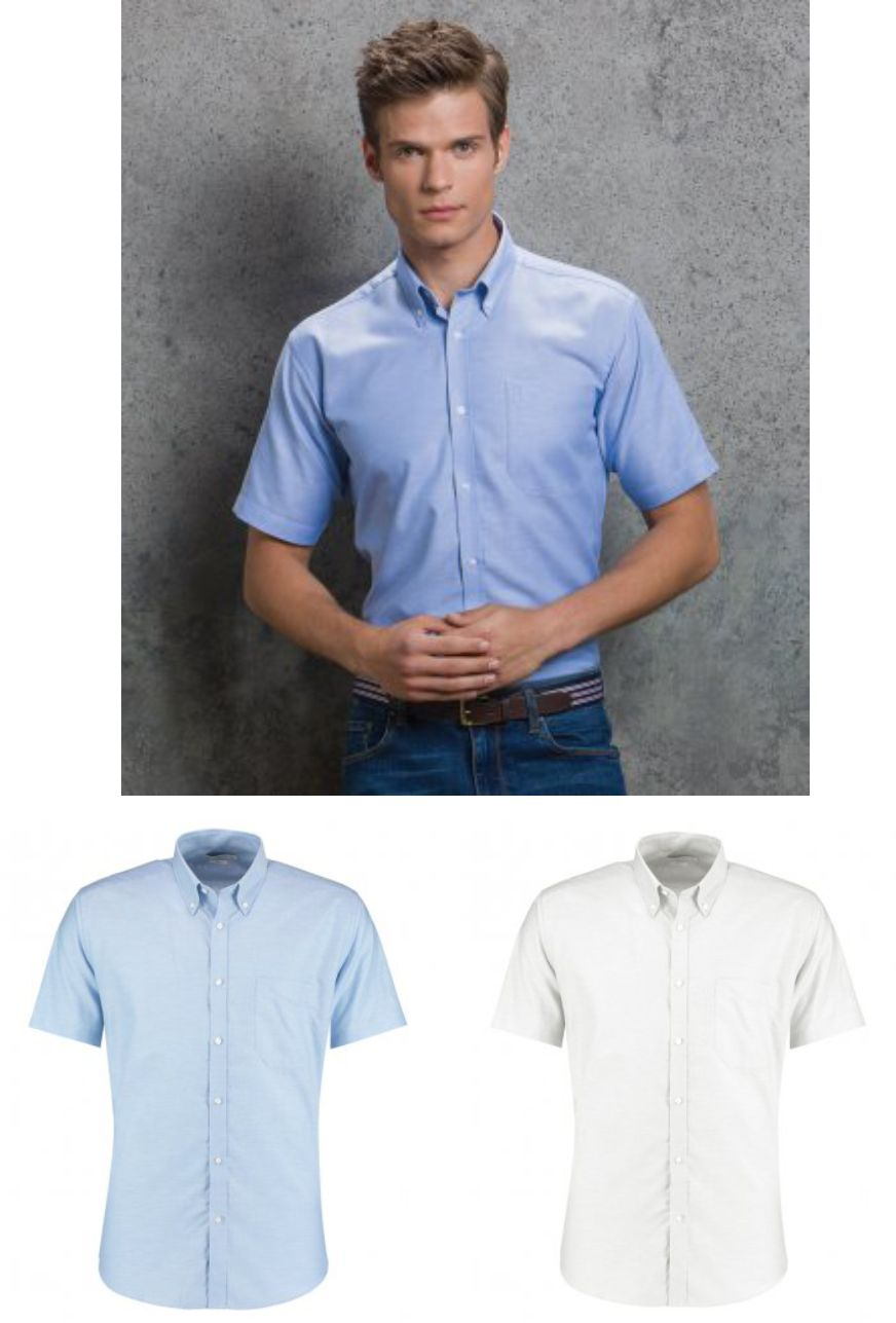 KK183 Kustom Kit KK183 Slim Fit Short Sleeve Oxford Shirt